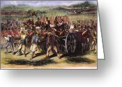 Rebellion Greeting Cards - India: Sepoy Mutiny, 1857 Greeting Card by Granger