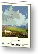 Co Galway Greeting Cards - Ireland  Connemara Galway Greeting Card by Joe O Donnell