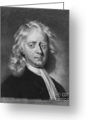 Isaac Newton Greeting Cards - Isaac Newton, English Polymath Greeting Card by Omikron
