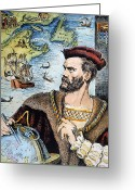 Expedition Greeting Cards - Jacques Cartier (1491-1557) Greeting Card by Granger