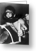 Film Still Greeting Cards - Jacques Cousteau (1910-1997) Greeting Card by Granger