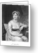 Signature Greeting Cards - Jane Austen (1775-1817) Greeting Card by Granger