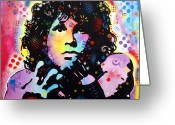 Dean Russo Art Painting Greeting Cards - Jim Morrison Greeting Card by Dean Russo