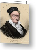 1855 Greeting Cards - Johann Carl Friedrich Gauss, German Greeting Card by Science Source