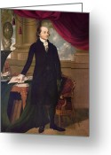 Cravat Greeting Cards - John Jay (1745-1829) Greeting Card by Granger