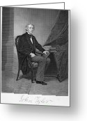 Autograph Greeting Cards - John Tyler (1790-1862) Greeting Card by Granger