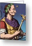Julius Greeting Cards - Julius Caesar, Roman General Greeting Card by Photo Researchers
