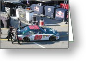Dale Earnhardt Jr Greeting Cards - Juniors Number 88 Greeting Card by Jamie Baldwin