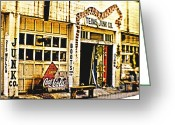 Flea Greeting Cards - Junk Company Greeting Card by Scott Pellegrin