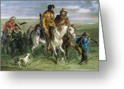 Mob Greeting Cards - Kansas-nebraska Act, 1856 Greeting Card by Granger
