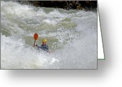 Prowess Greeting Cards - Kayaker Greeting Card by Mark Weber