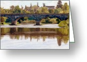 Surroundings Greeting Cards - Kelso Bridge Greeting Card by James Shepherd