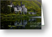 Eire Greeting Cards - Kylemore Abbey Greeting Card by Gabriela Insuratelu