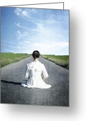 Natur Greeting Cards - Lady On The Road Greeting Card by Joana Kruse