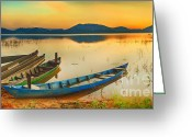 Tonight Greeting Cards - Lak Lake Greeting Card by MotHaiBaPhoto Prints