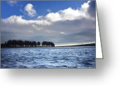 Volcanic Greeting Cards - Lake in Auvergne Greeting Card by Bernard Jaubert
