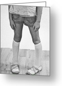 Short Greeting Cards - Legs Of A Girl Greeting Card by Joana Kruse