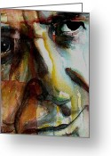 Singer Painting Greeting Cards - Leonard  Greeting Card by Paul Lovering