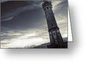 Thunderstorms Greeting Cards - Lighthouse Greeting Card by Joana Kruse