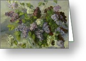 Dark Greeting Cards - Lilacs Greeting Card by Tigran Ghulyan