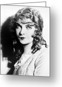 Movie Star Greeting Cards - Lillian Gish (1893-1993) Greeting Card by Granger