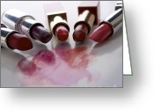 Lives Greeting Cards - Lipsticks Greeting Card by Bernard Jaubert