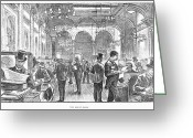 Great Hall Greeting Cards - Lloyds Of London, 1890 Greeting Card by Granger