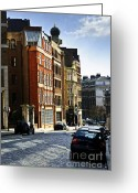 Cobblestone Street Greeting Cards - London street Greeting Card by Elena Elisseeva