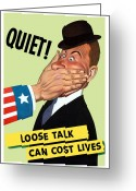 Lives Greeting Cards - Loose Talk Can Cost Lives  Greeting Card by War Is Hell Store