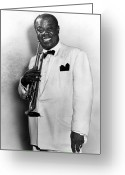 20th Century Photo Greeting Cards - Louis Armstrong 1900-1971 Greeting Card by Granger
