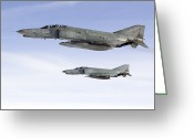 Air-to-air Greeting Cards - Luftwaffe F-4f Phantom Ii Greeting Card by Gert Kromhout