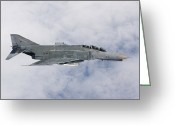 Air-to-air Greeting Cards - Lufwaffe F-4f Phantom Greeting Card by Gert Kromhout