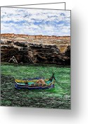 Sea Shell Art Greeting Cards - Malta Greeting Card by Patrick J Murphy