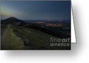 Illuminations Greeting Cards - Malvern Hills Greeting Card by Angel  Tarantella