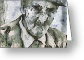 Fall Photographs Painting Greeting Cards - Man portrait Greeting Card by Odon Czintos