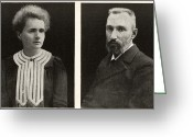 Laureates Greeting Cards - Marie And Pierre Curie, French Physicists Greeting Card by Humanities & Social Sciences Librarynew York Public Library