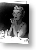 Marilyn Monroe Singer Greeting Cards - Marilyn Monroe Greeting Card by Byron Fli Walker