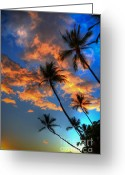 Beach Photograph Greeting Cards - Maui Sunset Greeting Card by Kelly Wade
