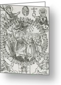 Amulet Greeting Cards - Medieval Plague Card Greeting Card by Science Source