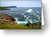 Frost Greeting Cards - Melting iceberg Greeting Card by Elena Elisseeva