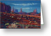 Western Pastels Greeting Cards - Mesa Shadows Greeting Card by Donald Maier