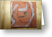 Uganda Pottery Greeting Cards - Mirrors - tile Greeting Card by Gloria Ssali