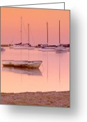 Cape Cod Mass Photo Greeting Cards - Misty Morning Osterville Cape Cod Greeting Card by Matt Suess