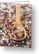 Broad-bean Greeting Cards - Mixed legumes Greeting Card by Sabino Parente