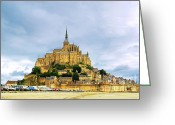 Monastery Greeting Cards - Mont Saint Michel Greeting Card by Elena Elisseeva