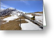 Amusement Park Greeting Cards - Monte Tamaro - Alpe Foppa - Ticino - Switzerland Greeting Card by Joana Kruse