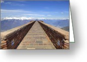 Architect Photo Greeting Cards - Monte Tamaro Greeting Card by Joana Kruse