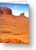 Desert Solitude Greeting Cards - Monument Valley Greeting Card by Jane Rix