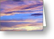Somber Greeting Cards - Moody Blue Greeting Card by Ellen Henneke