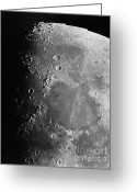 Lunar Photo Greeting Cards - Moon Surface Greeting Card by Science Source